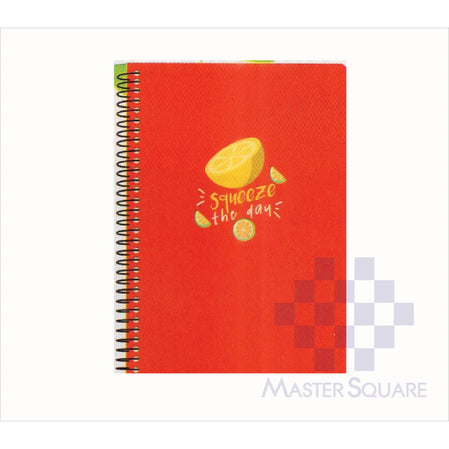 Spring Leaf Spiral Notebook 6 X 8.5 In 80 Lvs Sushine And Good Times Design 3-Master Square