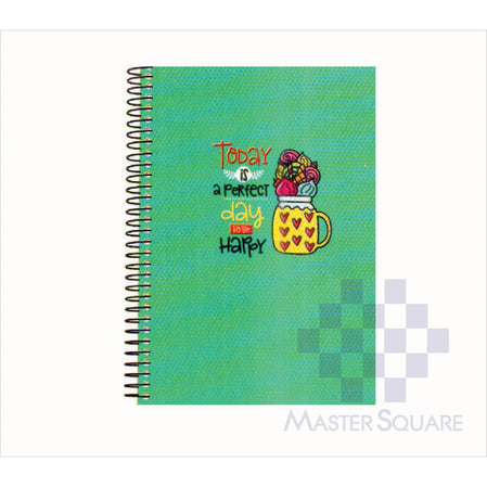 Spring Leaf Spiral Notebook 6 X 8.5 In 80 Lvs Sushine And Good Times Design 7-Master Square