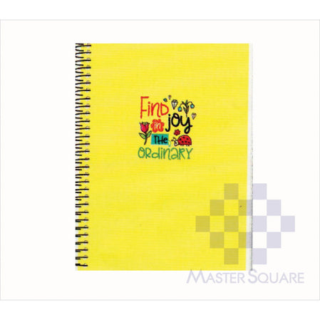 Spring Leaf Spiral Notebook 6 X 8.5 In 80 Lvs Sushine And Good Times Design 8-Master Square