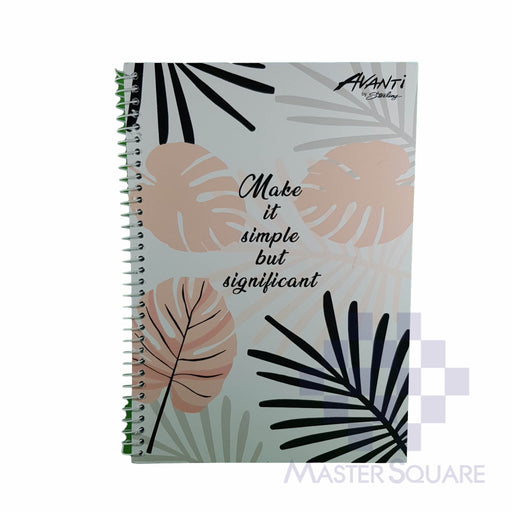 Sterling Avanti Spiral Notebook 6 X 8.5 In 80 Lvs With Plastic Bright Vibes Design 6-Master Square