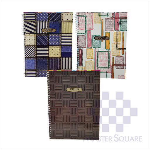 Notebook Spiral 80lvs Coed Notes Design Set 2 Pack Of 3-Master Square