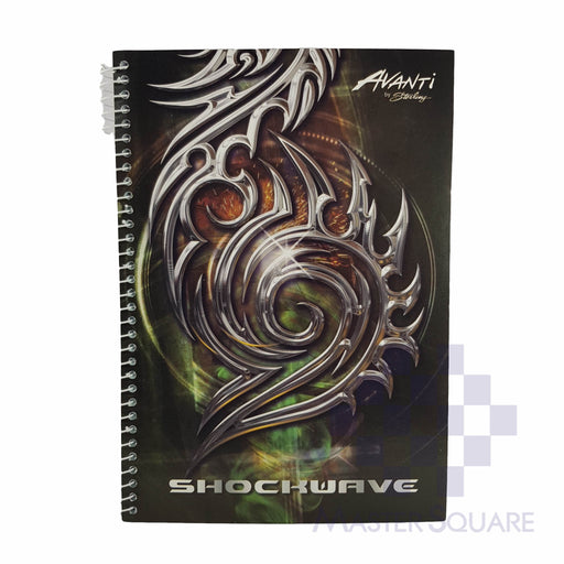 Sterling Avanti Spiral Notebook 6 X 8.5 In 80 Lvs With Plastic Shock Wave Design 4-Master Square