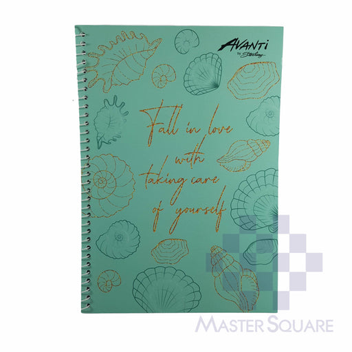 Sterling Avanti Spiral Notebook 6 X 8.5 In 80 Lvs With Plastic Serene Life Design 6-Master Square