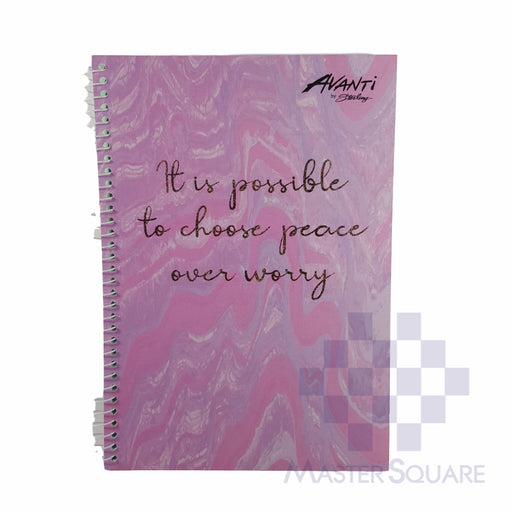 Sterling Avanti Spiral Notebook 6 X 8.5 In 80 Lvs With Plastic Mineral Lines Design 1-Master Square