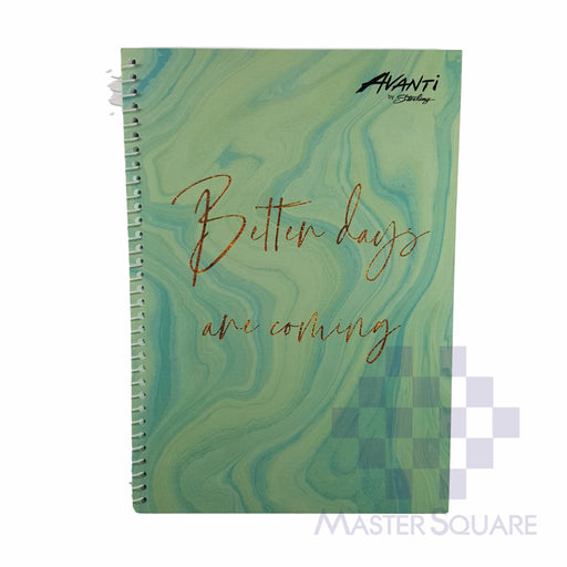 Sterling Avanti Spiral Notebook 6 X 8.5 In 80 Lvs With Plastic Mineral Lines Design 3-Master Square
