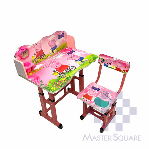 Kids Desk And Chair Set 27 X 18 In Peppa Pig In Pink-Master Square