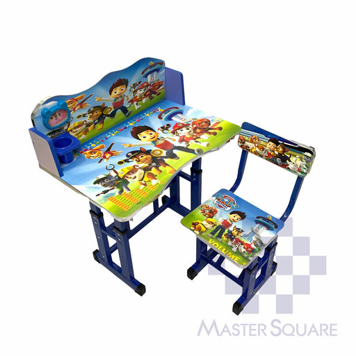 Kids Desk And Chair Set 27 X 18 In Paw Patrol In Blue-Master Square