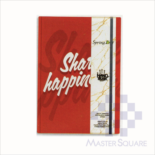 Spring Leaf Hardbound Bookbind Notebook 148 X 210 Mm 120lvs Handbook Design 2-Master Square