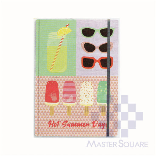 Spring Leaf Hardbound Bookbind Notebook 148 X 210 Mm 120lvs Summer Lovin Design 1-Master Square