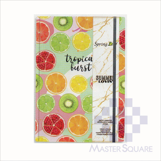 Spring Leaf Hardbound Bookbind Notebook 148 X 210 Mm 120lvs Summer Lovin Design 2-Master Square