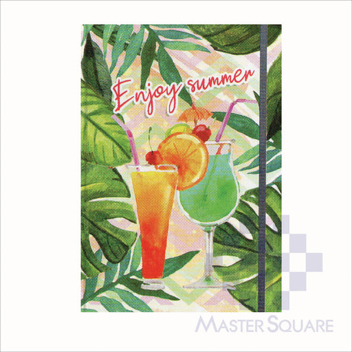Spring Leaf Hardbound Bookbind Notebook 148 X 210 Mm 120lvs Summer Lovin Design 3-Master Square