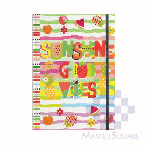 Spring Leaf Hardbound Bookbind Notebook 148 X 210 Mm 120lvs Summer Lovin Design 5-Master Square
