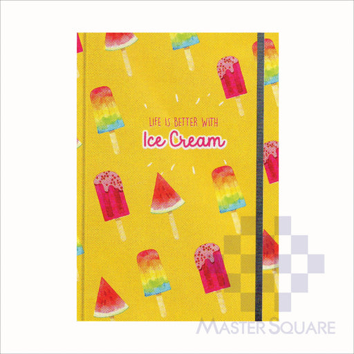 Spring Leaf Hardbound Bookbind Notebook 148 X 210 Mm 120lvs Summer Lovin Design 6-Master Square