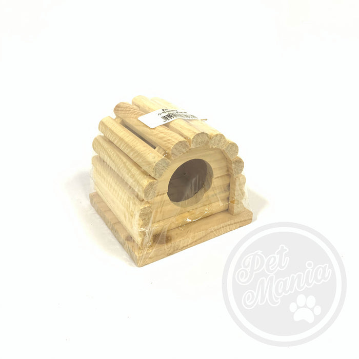 Hamster Wooden Curve Roof-Master Square