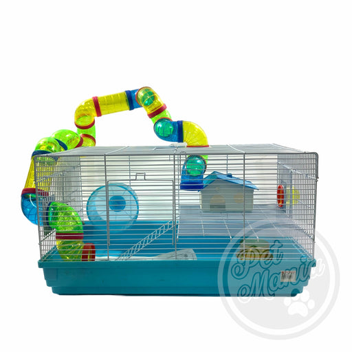 Hamster Cage With Connecting Tube B1407W-Master Square
