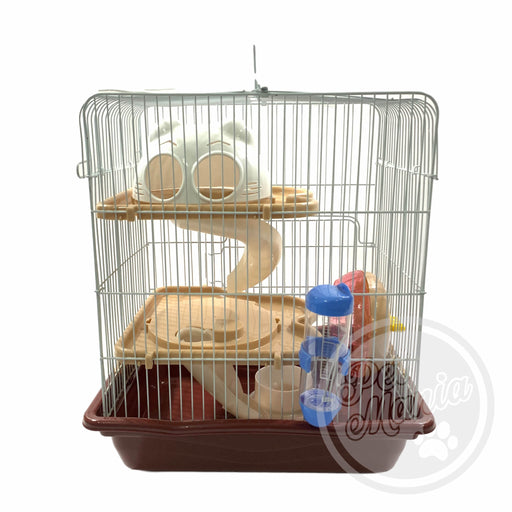 Hamster Cage With Connecting Tube M012-Master Square