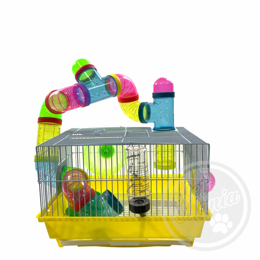 Hamster Cage With Connecting Tube 915B-Master Square