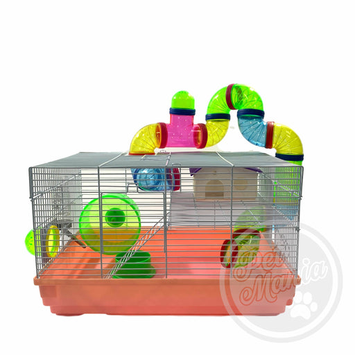 Hamster Cage With Connecting Tube 1507-Master Square