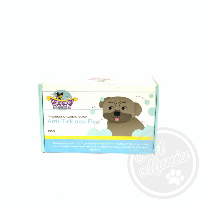 Pampered Pooch Soap Anti-tick & Flea 135g-Master Square
