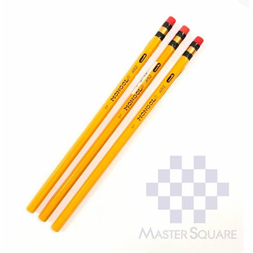 Mongol Pencil No.1 Set Of 3-Master Square