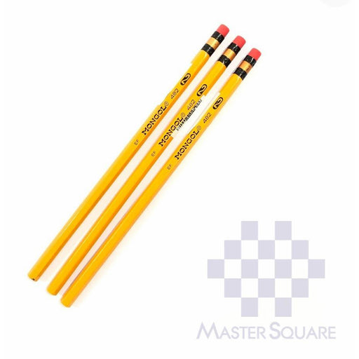 Mongol Pencil No.2 Set Of 3-Master Square