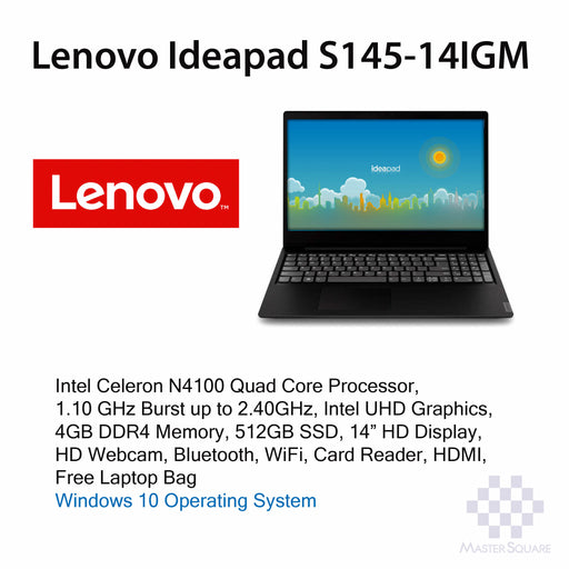Laptop Lenovo Ideapad S145 14IGM-Master Square
