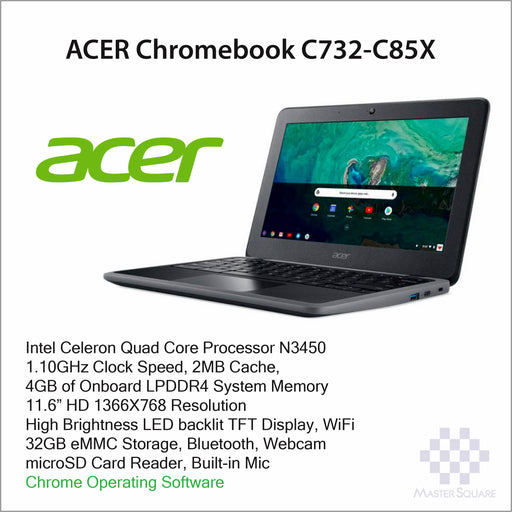 Laptop Acer Chromebook C732-C85X-Master Square