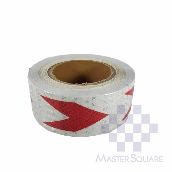 Reflective Direction Sticker Roll 20 Meters White-Master Square