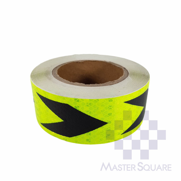 Reflective Direction Sticker 20 Meters Roll Neon Yellow-Master Square
