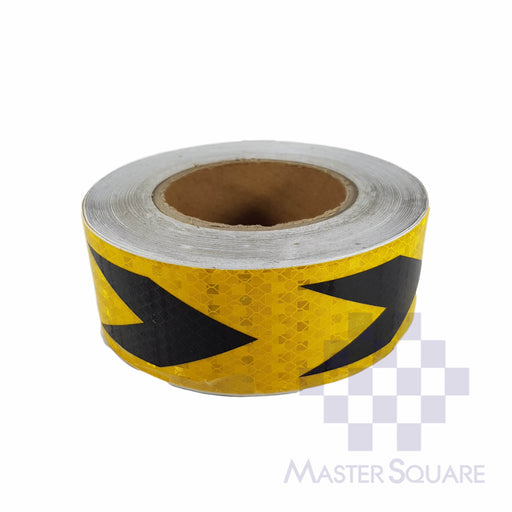 Reflective Direction Sticker 20 Meters Roll Golden Yellow-Master Square