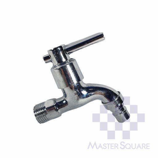 Faucet Standard Short Metal With Hose Adapter-Master Square