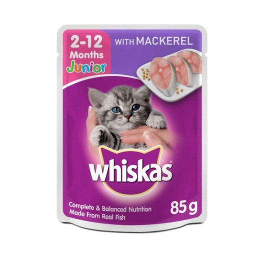 Whiskas Jr Mackrl 85g Pouch-Master Square