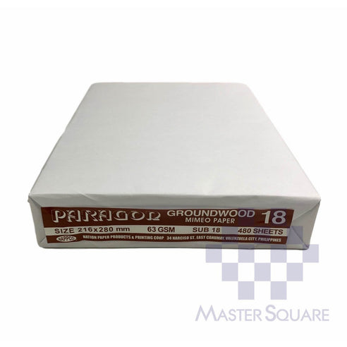 Paragon Groundwood Mimeo Paper 8.5 X 11 Sub 18 (Max of 2reams/brand per delivery. Please choose another brand if you wish to add more reams to your order)-Master Square