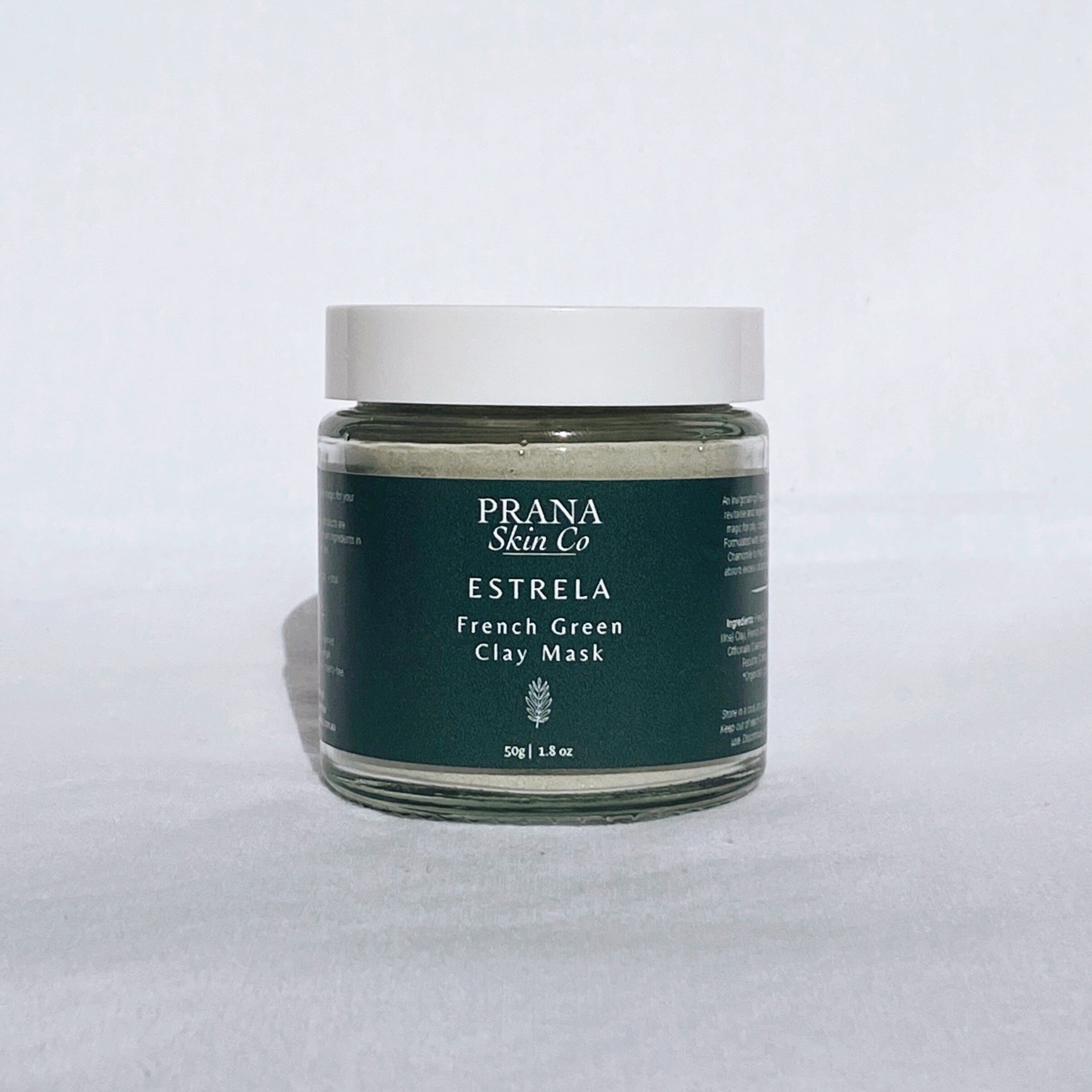 Prana Skin Co Estrela French Green Clay Mask