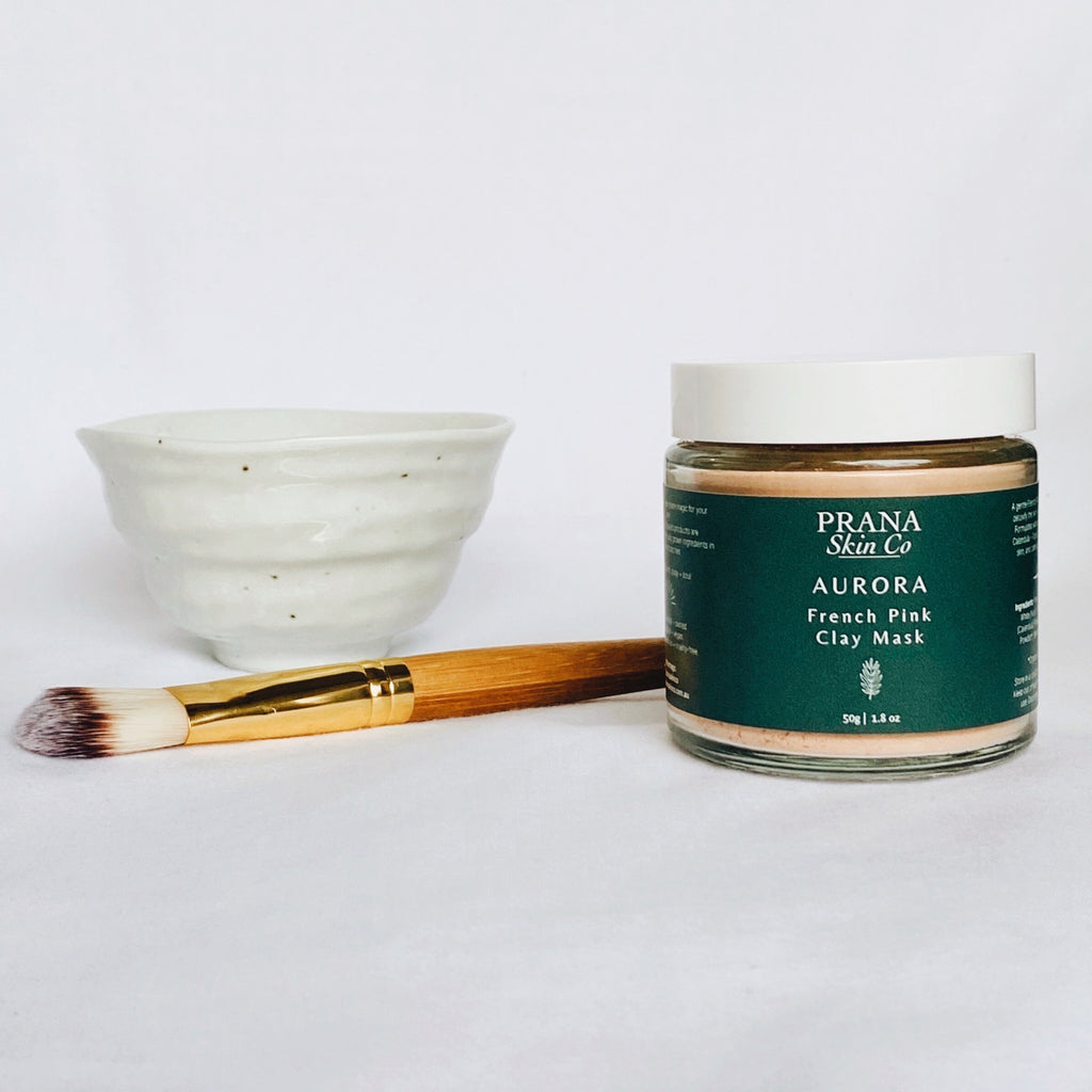 Prana Skin Co Aurora French Pink Clay Mask Set