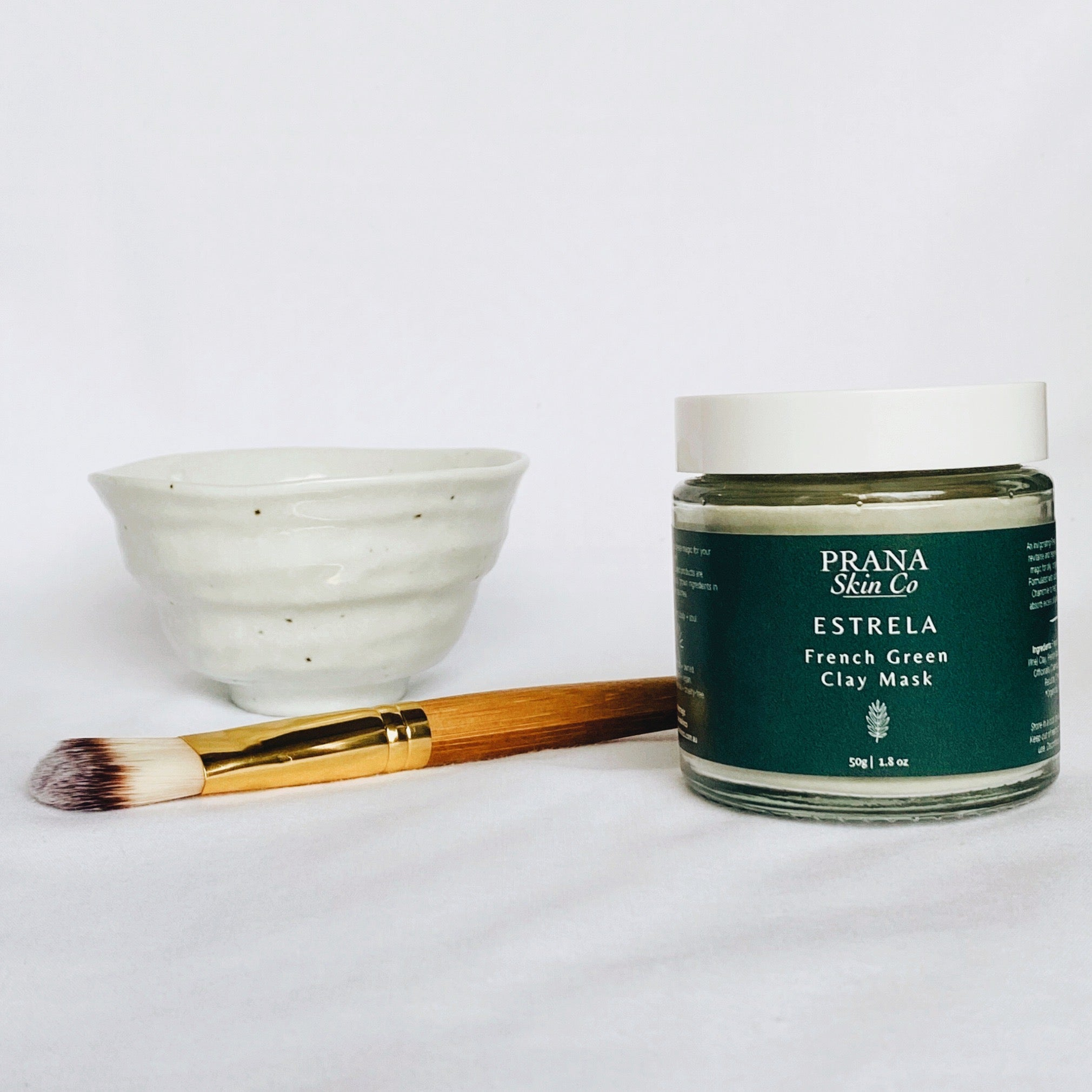 Prana Skin Co Estrela French Green Clay Mask Set