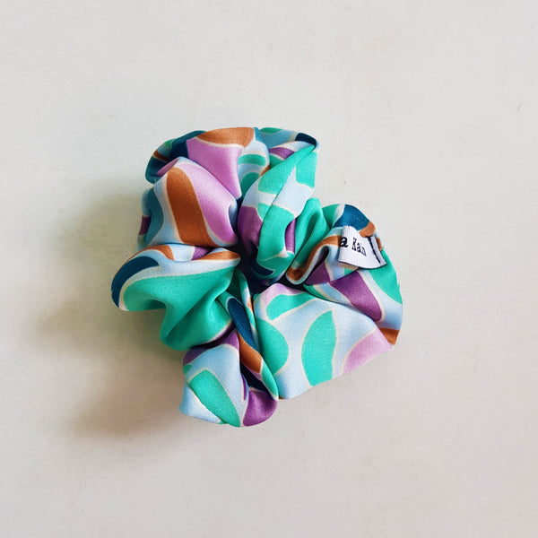 Patterned Satin Scrunchie