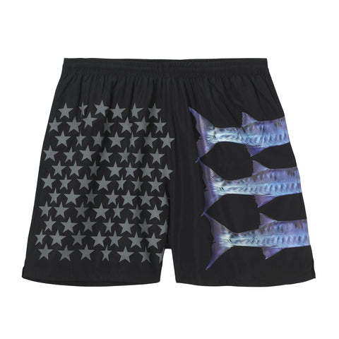 EARY Barracuda vinyl & 3M Print swim shorts. 'BARRACUDA SERIES'