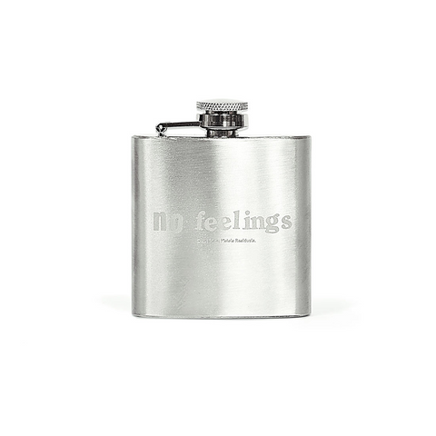 No Feelings Hip Flask