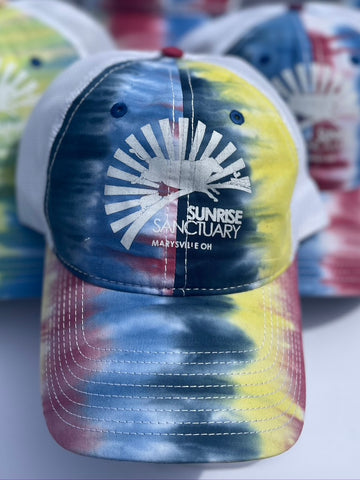 Tie-Dye Truckers Cap with White Logo *Limited Quantity*
