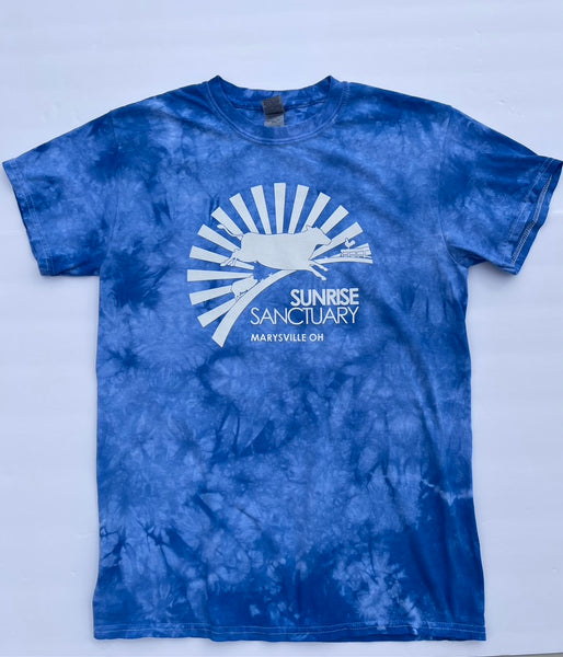 Tie-Dye T-Shirt with White Logo