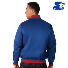 Load image into Gallery viewer, The First Rounder - Men's Starter Satin Jacket - New York Giants