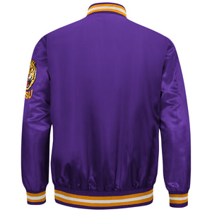 Men's Purple LSU Tigers Starter Satin Jacket