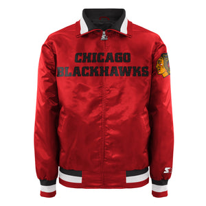 Chicago Blackhawks - Men's Starter Satin Jacket