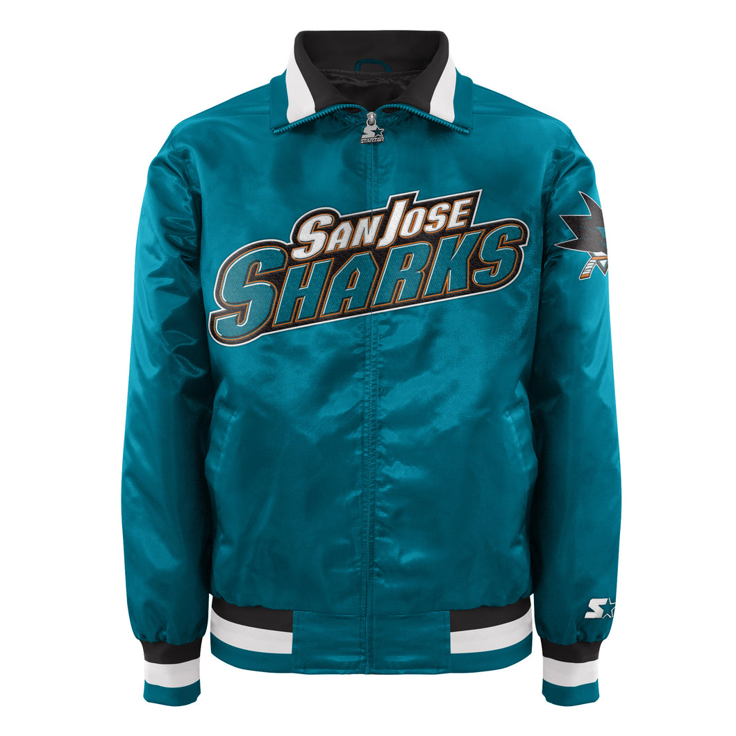 San Jose Sharks - Men's Starter Satin Jacket