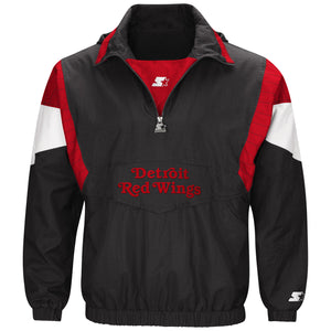 Detroit Red Wings - Men's Hooded Popover Jacket