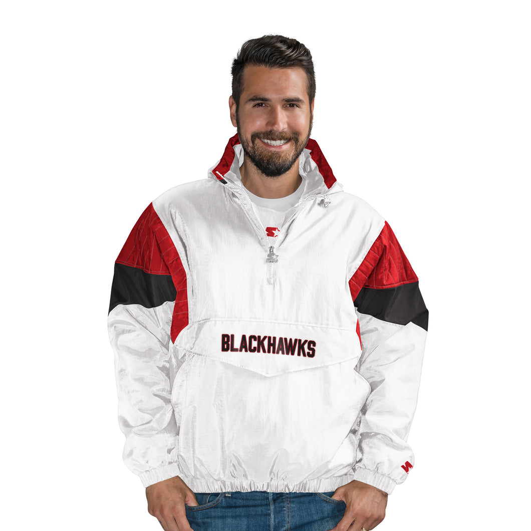 Chicago Blackhawks - Men's Hooded Popover Jacket