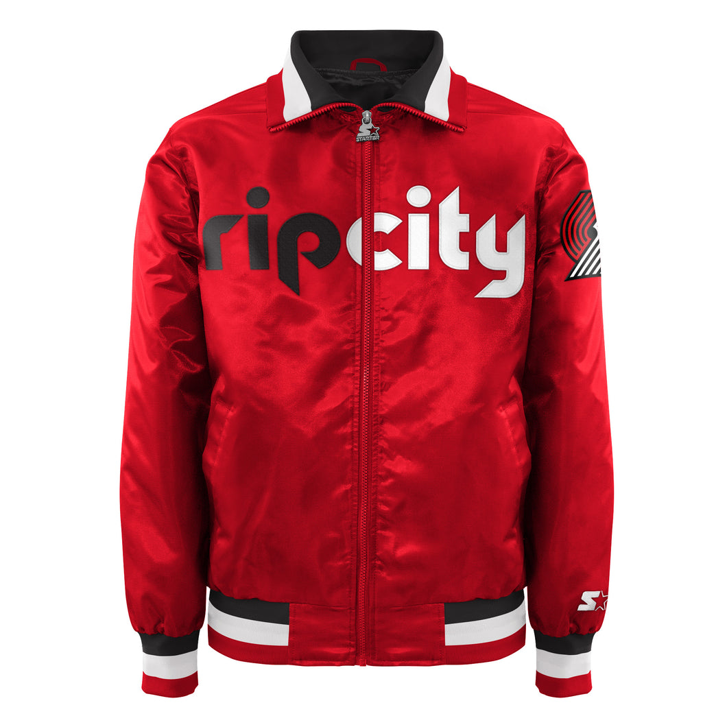 Portland Trailblazers - Men's Starter Satin Jacket