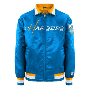 Men's Starter Satin Jacket - San Diego Chargers