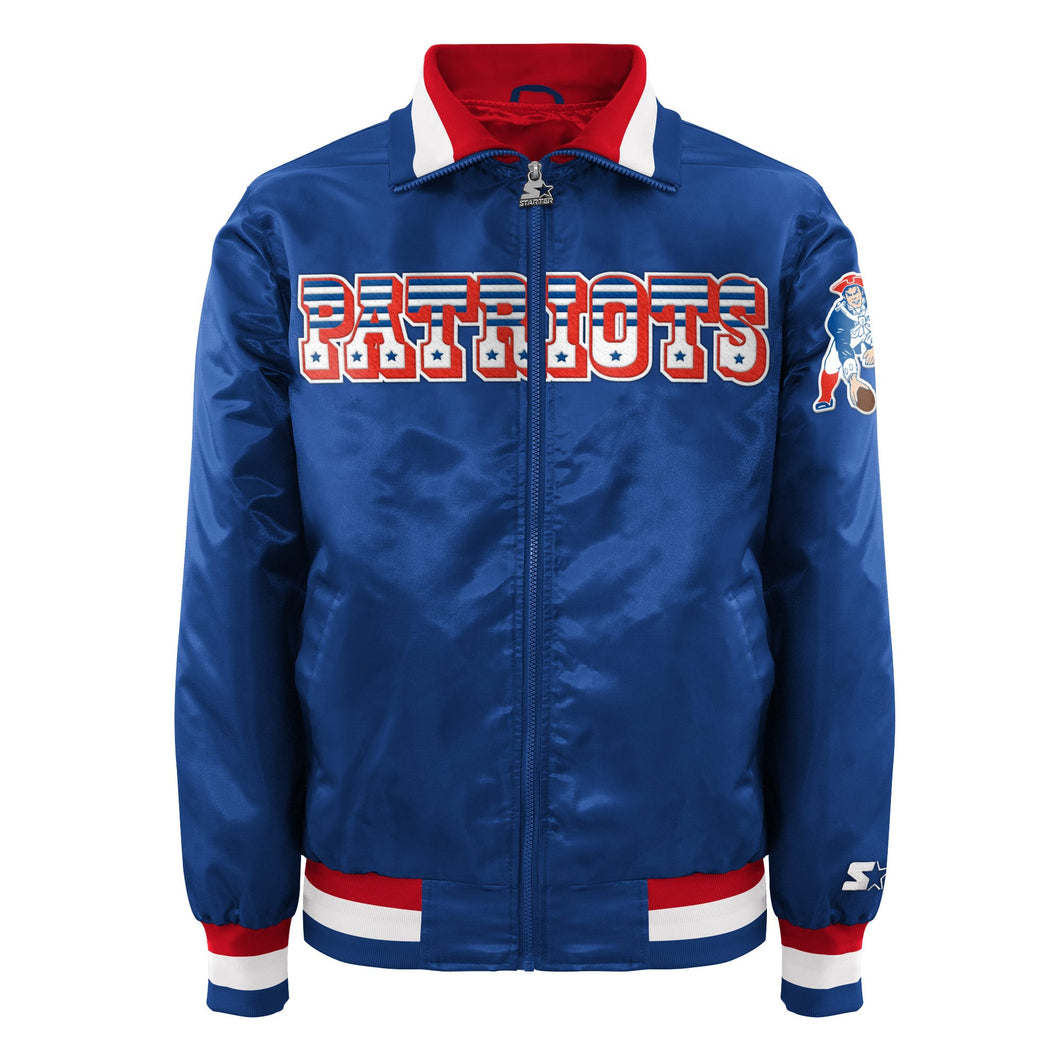 Men's Starter Satin Jacket - New England Patriots